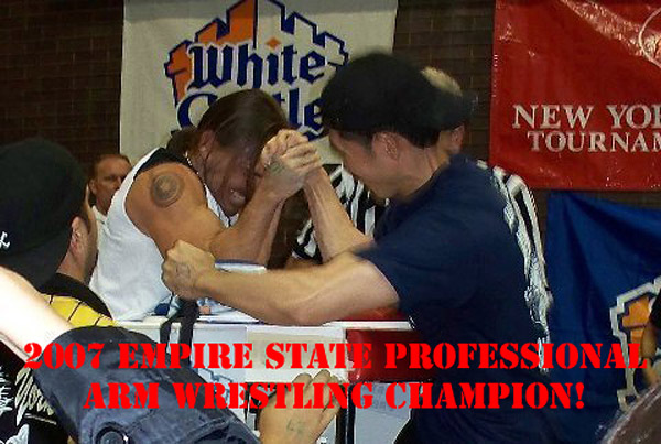 2007 Empire State Professional Arm Wrestling Champion Awarded To Joseph Justin